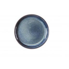 Assiette plate ronde bleue grès Ø 24 cm Gres Couleur Pro.mundi