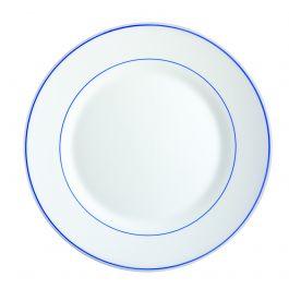 Assiette plate ronde blanc verre Ø 25 cm Restaurant Filet Bleu Arcoroc