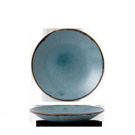 Assiette creuse ronde bleue porcelaine Ø 25,60 cm Harvest Dudson