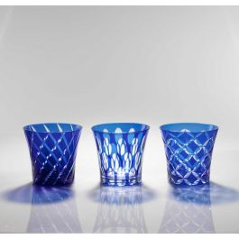 Gobelet forme basse bleu 27 cl Twins Geminiano Cozzi Venezia 1765