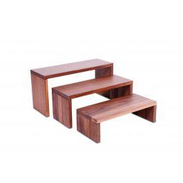 Présentoir rectangulaire brun bois 40 cm Nature Zepe (3 pièces)