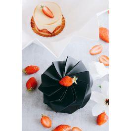 Boîte traiteur ronde noire Ø 12 cm 650 ml Lotus Lelu (100 pièces)