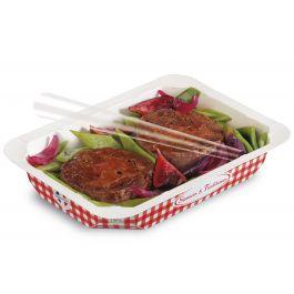 Barquette rectangulaire rouge 13,70x19,20 cm 75 cl Barquettes Food Alphaform (65 pièces)