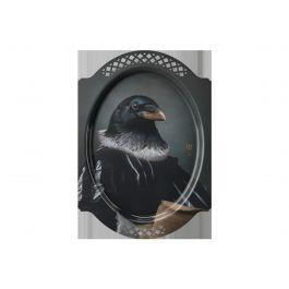 Plateau le corbeau rectangulaire 38 cm Portrait Ibride