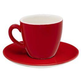 Tasse à cappuccino / thé ronde rouge porcelaine 20 cl Ø 9 cm Emotions Pro.mundi