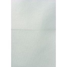 Serviette carrée blanc coton 56x56 cm Bande Satin Denantes