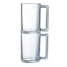 Mug droit transparent verre 32 cl Ø 7,20 cm A La Bonne Heure Luminarc