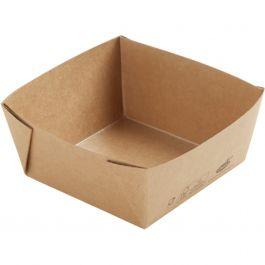 Boîte carrée marron 11,30x11,30 cm 51 cl Viking Duni (300 pièces)