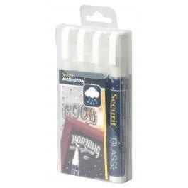 Feutre craie blanc Securit (4 pièces)