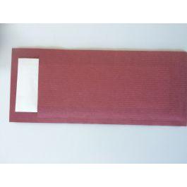 Pochette bordeaux ouate de cellulose 20 cm x 8,5 cm Ecoline Pochettes 100 pièce(s)