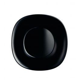 Assiette creuse carrée noire verre 21x21 cm Carine Luminarc