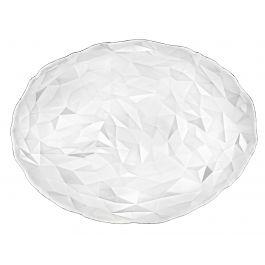 Assiette plate ovale transparente verre 26x35 cm Diamond Bormioli Rocco