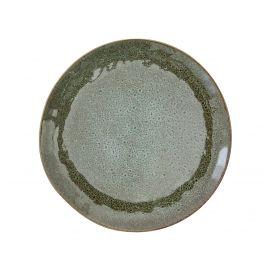 Assiette plate ronde verte grès Ø 24 cm Sky Pro.mundi