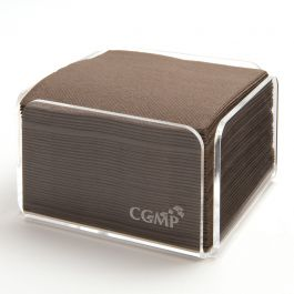 Serviette chocolat ouate de cellulose 20x20 cm Celi Ouate Cgmp (100 pièces)