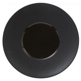 Assiette plate ronde noire grès Ø 28 cm Chic & Mat Pro.mundi