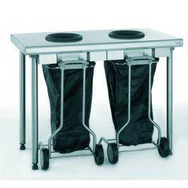 Table de pré-tri 2 trous 60x120 cm Tournus