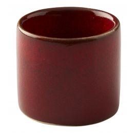 Pot à sauce rond rouge grès 5 cl Ø 5 cm Gres Couleur Pro.mundi