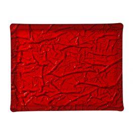 Plateau rectangulaire rouge plastique 46 cm Acrylic3 Platex