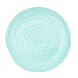 Assiette coupe plate ronde bleu clair porcelaine Ø 21 cm Teck Pillivuyt