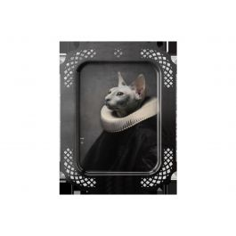 Plateau le chat rectangulaire 45 cm Portrait Ibride