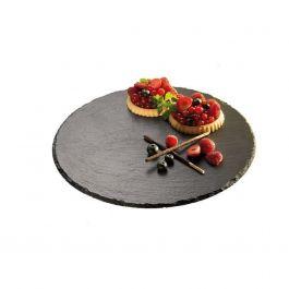Présentoir à pâtisserie rond ardoise Ø 32 cm Aps