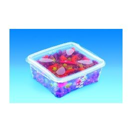 Boîte avec couvercle rectangulaire transparente 15,90x17,50 cm 150 cl Prestipack Alphaform (30 pièces)
