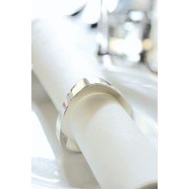 Serviette blanc non tissé 40x40 cm Airlaid Duni (60 pièces)