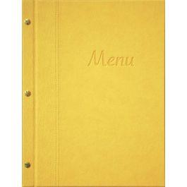 Protège-menu rectangulaire jaune 8 vues Bequet