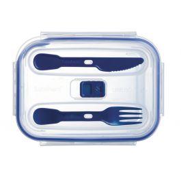 Boîte avec couvercle rectangulaire transparente verre 122 cl 20,56 cm Pure Box Active Luminarc