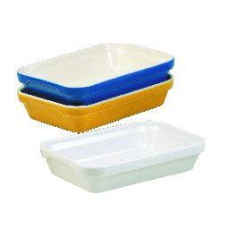 Plat à lasagnes rectangulaire blanc porcelaine 13x19 cm Londres Revol