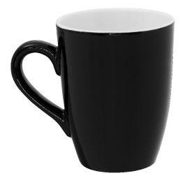 Mug rond noir porcelaine 32 cl Ø 8,30 cm Emotions Pro.mundi