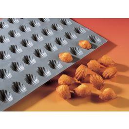 Plaque 30 mini madeleines silicone gn 1/3 0,64 cl Elastomoule De Buyer