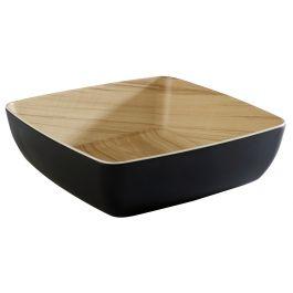 Saladier carré noir mélamine 2,65 l 25 cm Frida Aps