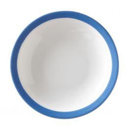 Assiette creuse ronde bleue porcelaine Ø 22 cm Optima Color
