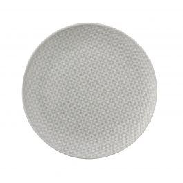 Assiette coupe plate ronde gris grès Ø 28 cm Linen Vaisselle Pro.mundi