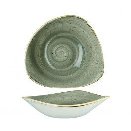 Saladier triangulaire pepper porcelaine 37 cl 18,50 cm Stonecast Churchill