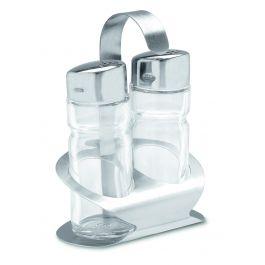 Ménagère sel/poivre transparente 13 cm Nova Pro.mundi