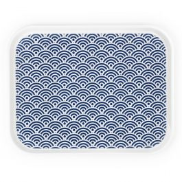 Plateau bleu polyester bord droit Poly Styl Platex