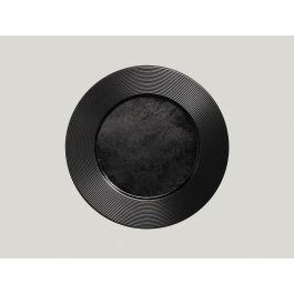 Assiette plate rond noir porcelaine Ø 31 cm Edge Rak