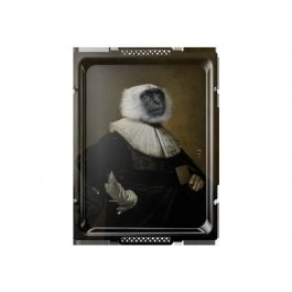 Plateau le singe rectangulaire 66 cm Portrait Ibride