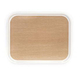 Plateau marron polyester bord droit Poly Styl Platex
