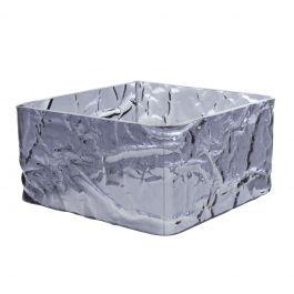 Cube carré noir plastique 18 cm Acrylic3 Platex