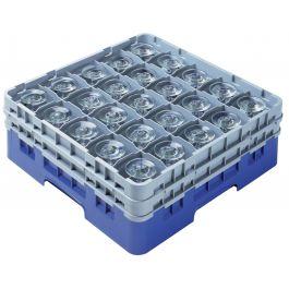 Casier de lavage carré bleu 50x50 cm Camrack Cambro