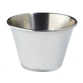Pot à sauce rond inox 10 cl Ø 7 cm