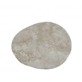 Assiette extra plate ovale beige grès 20 cm x 26,5 cm Marble Pro.mundi