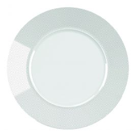 Assiette plate ronde blanche Ø 31 cm Style Ethnic Ariane