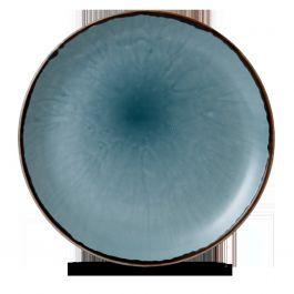 Assiette coupe plate ronde bleue porcelaine Ø 28,80 cm Harvest Dudson