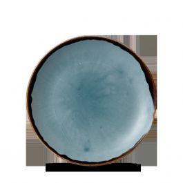 Assiette coupe plate ronde bleue porcelaine Ø 16,50 cm Harvest Dudson