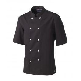 Veste de cuisine homme manche courte noire taille 4 Blake Molinel