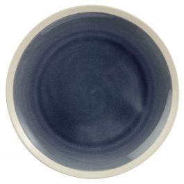 Assiette plate ronde bleue grès Ø 25,50 cm Winter Pro.mundi